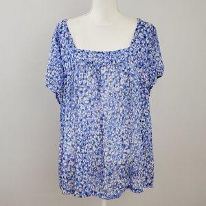 ⚡ Jessica Simpson Floral Blouse Size 2X